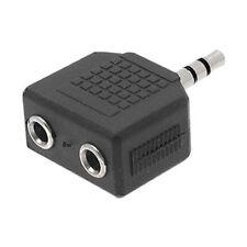Adaptador dual jack de audio 3.5mm estéreo doble conexión auricular