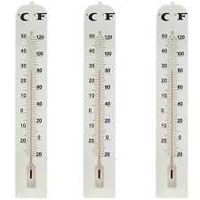 3 Pack Large Indoor Outdoor Wall Thermometer Weather Resistant Hanging Analog