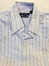 English Laundry Christopher Wicks Men's Fancy Embroidered Dress Shirt MED