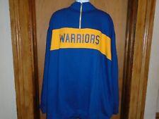 Golden State Warrior Majestic Hardwood Classics 1/4 Zip Pullover Shirt 2XLT 3XL