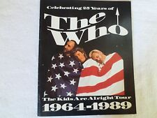 The WHO, The Kids Are Alright 1964-1989, concert program, 1989  NICE!!!