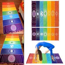 Yoga Mat Yoga Blanket Printed Rainbow 7 Chakra Mandala Pattern
