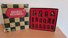 Spanische Schachfiguren aus Metall, guter Zustand, Ajedrez Helenico