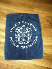"""BLUE & WHITE GOLF TOWEL - FOREST OF ARDEN HOTEL AND COUNTRY CLUB - 22"""" X 17"""""""