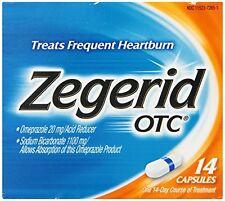 4 Pack - Zegerid OTC Capsules Treat Frequent Heartburn, 14 Each