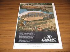 1969 Print Ad Starcraft Starmaster 8 Tent Camping Trailers Goshen,IN