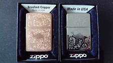 Zippo Camel 1 x Solid Copper and 1 x Silver Plated, both 54 of 75 VERY RARE