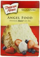12 PACKS : Duncan Hines Signature Cake Mix, Angel Food, 16 Ounce
