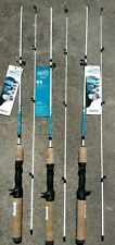 lot of 3 Zebco Fin Commander 5' Fishing cast casting Rod Light cork handle