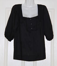 NWT Womens size 12 black embroidered/beaded blouse made by TARGET