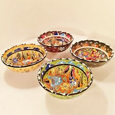 Turkish Moroccan Bowl Plate Handmade Painted Colourful Ceramic Hot Coasters