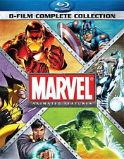 MARVEL ANIMATED FEATURES 8-FILM COMPLETE COLL - BLU RAY - Region A - Sealed