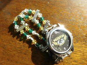 Green Bay Packers Swarovski crystal watch