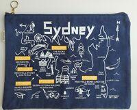 L'Occitane Maptote Sydney Australia & Provence France Cosmetic Travel Bag Zipper