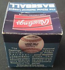 vintage RAWLINGS NATIONAL LEAGUE NL 1985 CHUB FEENEY original baseball box blue