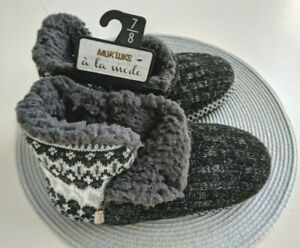 "NWT..Muk Luks Women's Slipper Booties  ""A La Mode"" Size 7 /8"