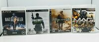 PS3  SHOOTER GAMES Lot of 4 - call of duty - battlefield 3 - MAG