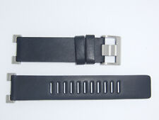 """New ORIGINAL Issey Miyake """"W"""" Ref. SILAY003 SILAY004 Leather Watch band Black"""