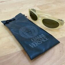 Rare New Authentic Vintage Gianni Versace Sunglasses with Medusa Logo and Pouch