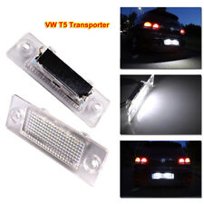 2x for VW T5 Transporter Error Free License Plate Number LED Lights White