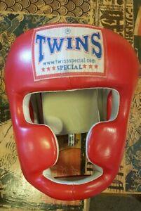 Twins Red Headgear Head Gear Boxing MuayThai