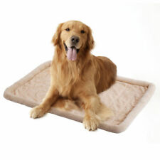 Beige Pet Dog Cat Bed Cushion Mat Pad Kennel Crate Cozy Warm Soft House Xs-Xxl
