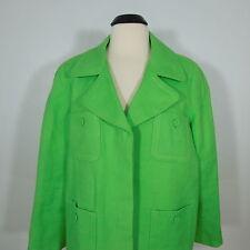 TALBOTS Women's Plus 100% Linen Green Jacket