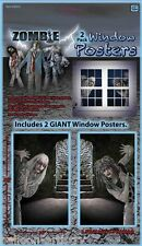 Halloween Zombie 2 x Giant Window Posters Decoration Decal Scene Setter Horror