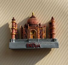 Tourist Souvenir 3D Resin Travel Fridge Magnet --- Taj Mahal , India