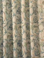 New White Blue Mosaic Tile Look Fabric Shower Curtain Green Brown Swirls mosaics