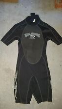 New listing Men's Billabong® Hyperflex Dive Surf Shorty Wetsuit Size XS Short Sleeve black