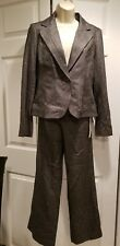 NWT Ann Taylor Career Work Gray Suit Wool Blend 2 Piece Pant Suit Size 2 4 $308