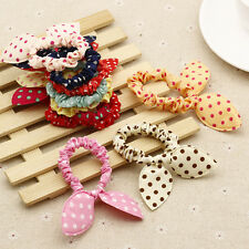 10pcs Lots Cute Hair Tie Band Ponytail Holder Elastic Rubber Scrunchies