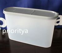 Tupperware Modular Mates Super Oval #3 Container Pour-All Greystone Seal New
