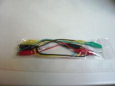 5 Cordons / Cables de Test, Dépannage, Pinces Crocodiles