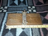 Vintage and collectable Wooden with metal fastenings Flower Leaf Press device