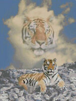 "Tiger Cloud Counted Cross Stitch Kit 10"" x 13.25"" A2154"