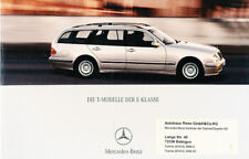 2001 Mercedes Benz E280 E320 German Prospekt Brochure