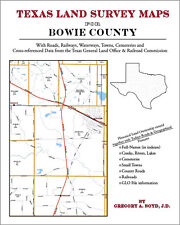 Bowie County Texas Land Survey Maps Genealogy History