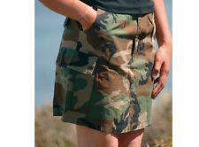 Us Army rock Women skirt BDU ripstop Woodland camo 36 mini falda