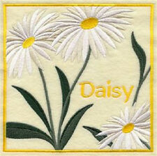 DAISY EMBROIDERED SET OF 2 BATHROOM TOWELS BY LAURA