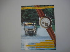 advertising Pubblicità 1990 OROLOGIO CAMEL TROPHY WATCH