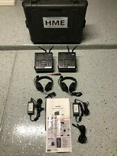 HME MB300 Wireless Intercom Headset System w/ Two Base Stations & Two Headsets