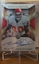 2020 Elements Heavy Metal Neil Smith autograph /50 Kansas City Chiefs