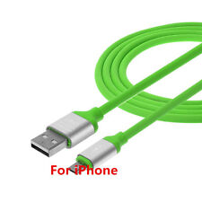 Real 2A Soft TPE USB Fast Charger Charging Data Sync Cable For iPhone 5 6 7 Plus