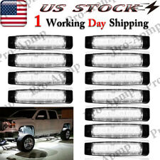 Led Rock Lights White 12 Pods Underbody Light For Jeep Off-Road Truck Utv Boat