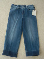 M&S Indigo Collection Sizes 8M 10M 12M  Wide Leg Cropped Denim Jeans Bnwt
