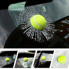 1 Ps Car 3D Simulatio Tennis Ball Decal Broken Window Sticker Body UNIVERSAL Fit