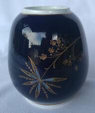 ***Vase Weimaer Kobalt Rund Blau Gold Porzellan ***