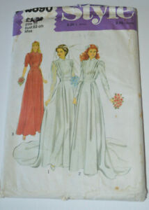 sewing pattern wedding dress in 3 styles pleated bodice size 10